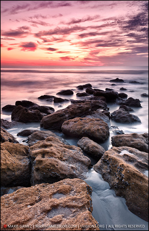 Early Morning Rocks, St. Augustine, FL - Maxis Gamez, All Rights Reserved