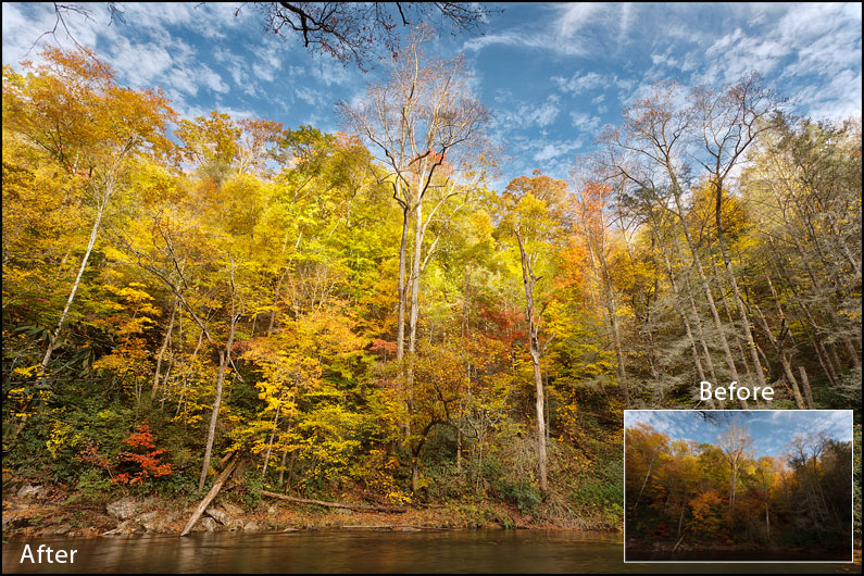 Fall Colors - 3 Images Blended Together, NC - Maxis Gamez, All Rights Reserved